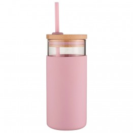 Avanti Glass Smoothie Cup 500ml - Pink