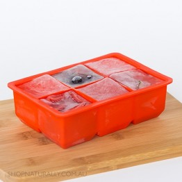 Avanti Silicone 6 Cup King Ice Cube Tray - Red