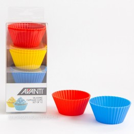 Avanti Reusable Silicone Cupcake Cups - 12 Pack