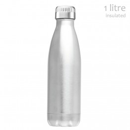 Avanti Stainless Steel Insulated Water Bottle - 1 litre Silver
