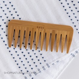 Bass Brushes Bamboo Wood Comb - Medium Wide Tooth