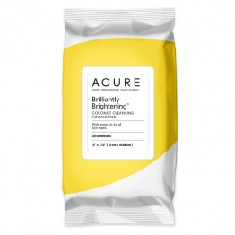 Acure Brilliantly Brightening Coconut Cleansing Towelletes x30