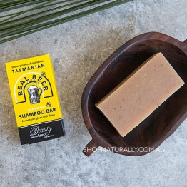 Beauty & The Bees Shampoo Bar 125g - Beer Shampoo (dandruff oily or fine hair)