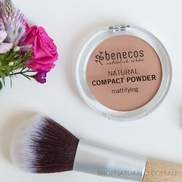 Benecos Natural Mattifying Compact Powder - 9g Sand (light / medium)