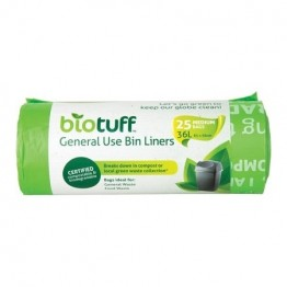 BioTuff Compostable Garbage Bags 36 litres