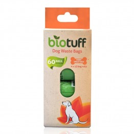 BioTuff Dog Waste Bags Refill Pack - 60 bags