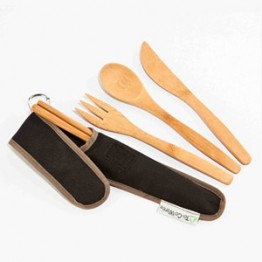 To-Go Ware Reusable Bamboo Utensil Set - Hijiki (Black)