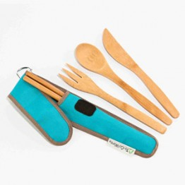To-Go Ware Reusable Bamboo Utensil Set - Agave (Blue)