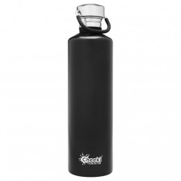 Cheeki Stainless Steel Water Bottle 1 litre - Matte Black