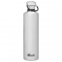 Cheeki Stainless Steel Water Bottle 1 litre - Silver