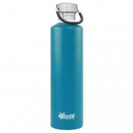 Cheeki Stainless Steel Water Bottle 1 litre - Topaz