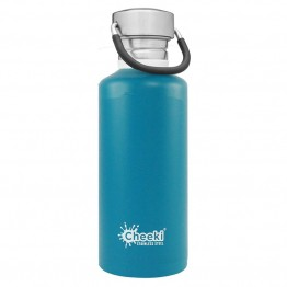 Cheeki Stainless Steel Water Bottle 500ml - Topaz