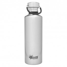 Cheeki Stainless Steel Water Bottle 750ml - Silver