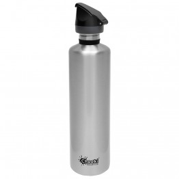 Cheeki Active Stainless Steel Water Bottle 1 litre - Silver
