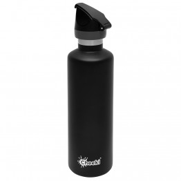 Cheeki Active Insulated Stainless Steel Water Bottle 600ml - Matte Black