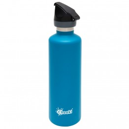 Cheeki Active Stainless Steel Water Bottle 1 litre - Topaz