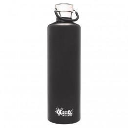 Cheeki Insulated Stainless Steel Water Bottle 1 litre - Matte Black