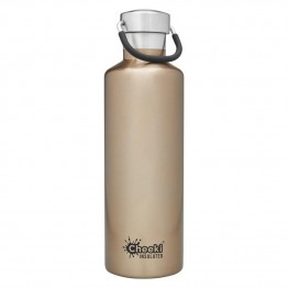 Cheeki Insulated Stainless Steel Water Bottle 600ml - Champagne