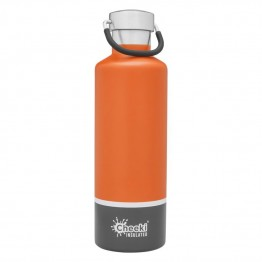 Cheeki Insulated Stainless Steel Water Bottle 600ml - Orange & Grey