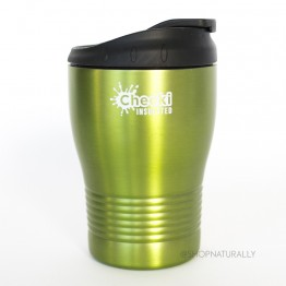 Cheeki Stainless Steel Insulated Spillproof Coffee Cup 240ml - Green