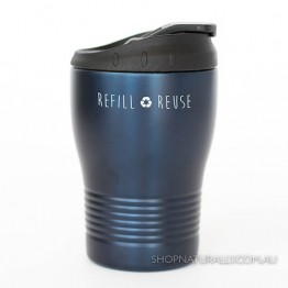 Cheeki Stainless Steel Insulated Spillproof Coffee Cup 240ml - Ocean