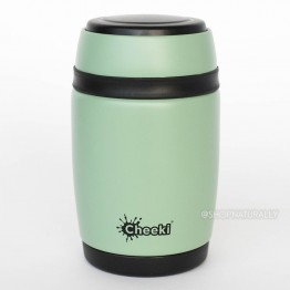 Cheeki Stainless Steel Insulated Food Jar 480ml Pistachio