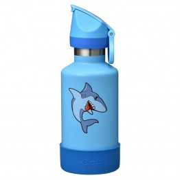 Cheeki Kids Insulated Stainless Steel Water Bottle 400ml - Sammy The Shark