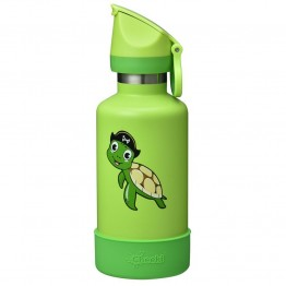Cheeki Kids Insulated Stainless Steel Water Bottle 400ml - Taj The Turtle