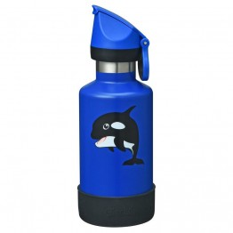 Cheeki Kids Insulated Stainless Steel Water Bottle 400ml - Oska the Orca