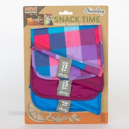 Chico Bag Reusable Sandwich Pockets - Check Berry Blue