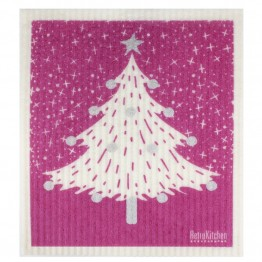 Retro Kitchen Swedish Dish Cloth - Christmas Tree