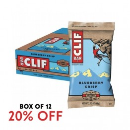 Clif Bar Energy Bar - Blueberry Crisp 68g - Box of 12
