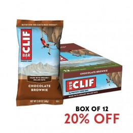 Clif Bar Energy Bar - Chocolate Brownie 68g - Box of 12