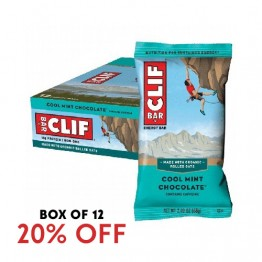 Clif Bar Energy Bar - Cool Mint Chocolate 68g - Box of 12