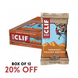 Clif Bar Energy Bar - Crunchy Peanut Butter 68g - Box of 12