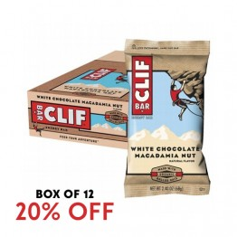 Clif Bar Energy Bar - White Chocolate Macadamia Nut 68g - Box of 12