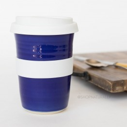 Southern Cross Pottery Stoneware Coffee Cup - 340ml Cobalt