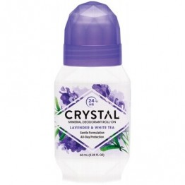Crystal Body Deodorant Roll On Lavender & White Tea 66ml