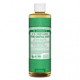 Dr Bronner's 18-in-1 Hemp Pure Castile Soap - 473ml Almond