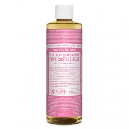 Dr Bronner's 18-in-1 Hemp Pure Castile Soap - 473ml Cherry Blossom