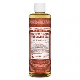 Dr Bronner's 18-in-1 Hemp Pure Castile Soap - 473ml Eucalyptus