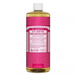 Dr Bronner's 18-in-1 Hemp Pure Castile Soap - 946ml Rose