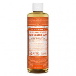 Dr Bronner's 18-in-1 Hemp Pure Castile Soap - 473ml Tea Tree