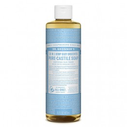Dr Bronner's 18-in-1 Hemp Pure Castile Soap - 473ml Baby Unscented