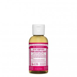 Dr Bronner's Castile Soap 59ml Rose