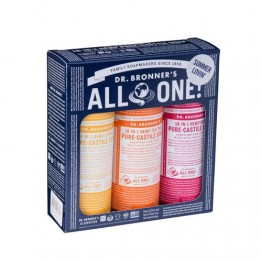 Dr Bronner's 18-in-1 Hemp Pure Castile Soap - Summer Lovin' Trio