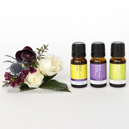 Eco Aroma Calm & Destress Essential Oils Pack - Lavender Lemongrass Lemon