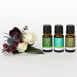 Eco Aroma Fight The Flu Essential Oils Pack - Eucalyptus Sinus Clear Tea Tree