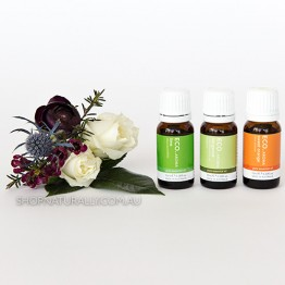 Eco Aroma Scents of Summer Essential Oils Pack - Lime Sweet Orange Bergamot