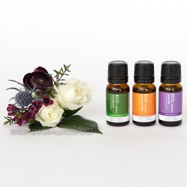 Eco Aroma Top 3 Essential Oils Pack - Eucalyptus Lavender and Sweet Orange